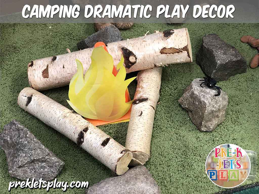 This is a pretend play campfire. Great way to make your dramatic play camping area look like the woodlands.
