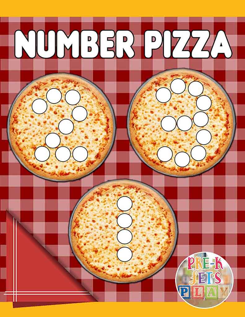 This is Number pizza math game for kids.