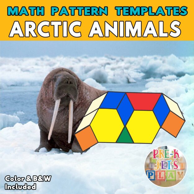 Cover of walrus with the body made up of colored math block patterns