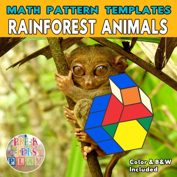 Cover of tarsier with the body made up of colored math block patterns